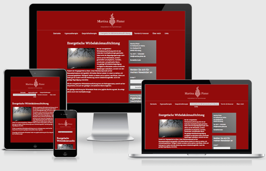 Webdesign für www.martina-pinter.de